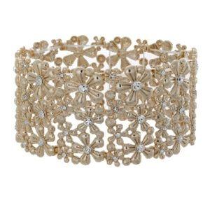Jewelry - Gold Floral Cuff Bracelet
